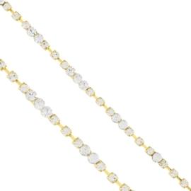 Bransoletka - jednorzędowe kryształki - BRA1357