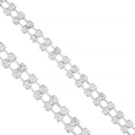 Bransoletka - dwurzędowe kryształki - BRA1358