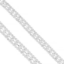 Bransoletka - trzyrzędowe kryształki - BRA1359