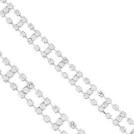Bransoletka - drabinka - kryształki - BRA1360