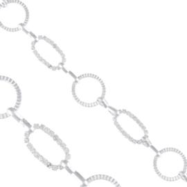 Bransoletka - złączone figury - kryształki BRA1364