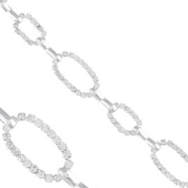Bransoletka - złączone figury - kryształki BRA1365