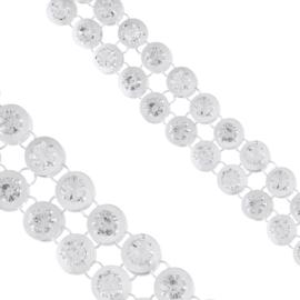 Bransoletka - kółeczka z kryształkami BRA1366