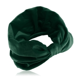 Opaska aksamitna - z węzłem - zieleń - OPS202
