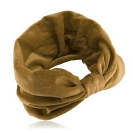 Opaska aksamitna - z węzłem - camel - OPS205