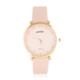 Zegarek damski na bladoróżowym pasku - Z1046
