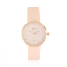 Zegarek damski na bladoróżowym pasku - Love Z1049