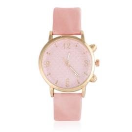Zegarek damski na różowym pasku - Love - Z1050
