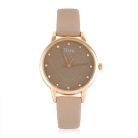 Zegarek damski na brązowym pasku - Love - Z1051