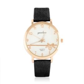 Zegarek damski na wytłaczanym pasku - Love Z1056