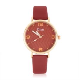 Zegarek damski na czerwonym pasku - Z1058