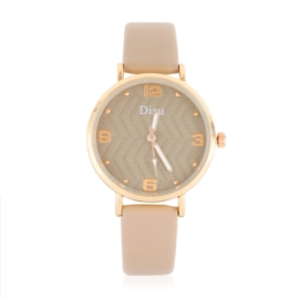 Zegarek damski na beżowym pasku - Z1059