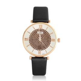 Zegarek damski na czarnym pasku - Z1063
