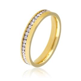 Obrączka z kryształkami - Xuping PP2067