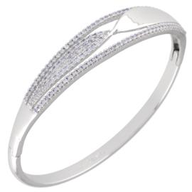 Bransoletka sztywna z kryształkami - BP4551