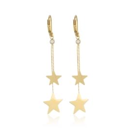 Kolczyki wiszące - gwiazdki - EAP10706