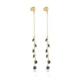 Kolczyki wiszące - czarne kryształki - EAP10709