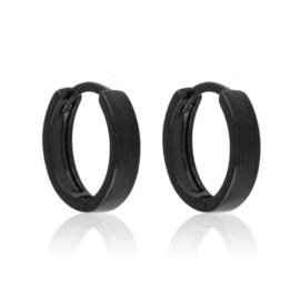 Kolczyki kółeczka - black - Xuping - EAP10740
