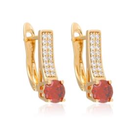 Kolczyki - czerwony kamień - Xuping - EAP10742
