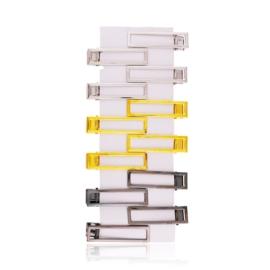 Spinki edytki metaliczne 6cm 12szt OS458