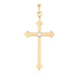 Przywieszka  krzyżyk z kryształkiem Xuping PRZ2116