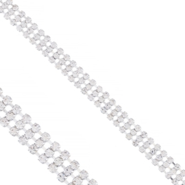 Bransoletka - trzyrzędowe kryształki - BRA1369