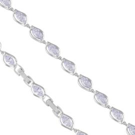 Bransoletka elegancka - kryształy - Xuping BP4663