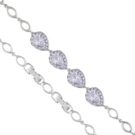 Bransoletka elegancka - kryształy - Xuping BP4664