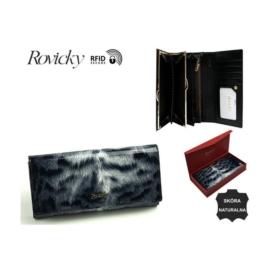 Portfel damski skórzany 8801-PTR White-Black P927