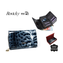 Portfel damski skórzany - 8806-PTR Black P928