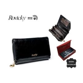 Portfel damski skórzany - 8806-BPR Black P929