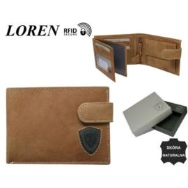 Portfel męski skórzany N992L-STL L.BRN/BLK - P908