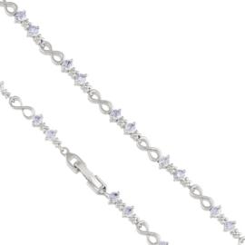 Bransoletka z kryształkami Infinity Xuping BP4746