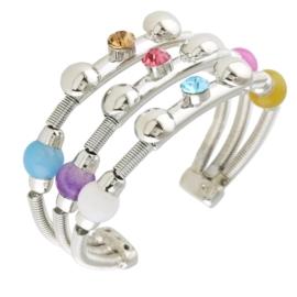 Bransoletka metalowa - kolorowa - BRA1370