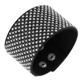 Bransoletka na pasku z kryształkami - BRA1371