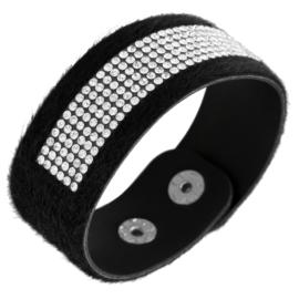 Bransoletka na pasku z kryształkami - BRA1372