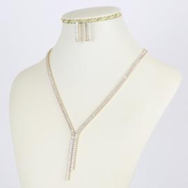 Komplet biżuterii z kryształkami - Xuping - SKO68