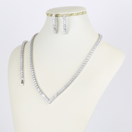 Komplet biżuterii z kryształkami - Xuping - SKO70