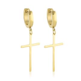 Kolczyki - wiszące krzyżyki - Xuping - EAP10130