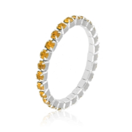Pierścionek kryształki na gumce - orange PIER102