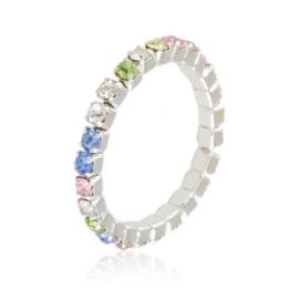 Pierścionek kryształki na gumce - kolor PIER98