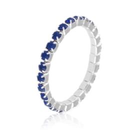 Pierścionek kryształki na gumce - granat PIER105