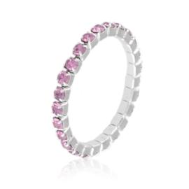 Pierścionek kryształki na gumce - j.fiolet PIER106