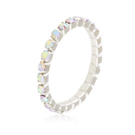 Pierścionek kryształki na gumce - opal PIER107