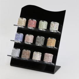 Pierścionki - kryształki na gumce - 120szt PIER110