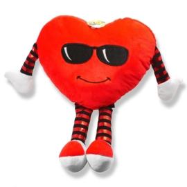 Maskotka poduszka serce duże 45cm Walentynki PO22