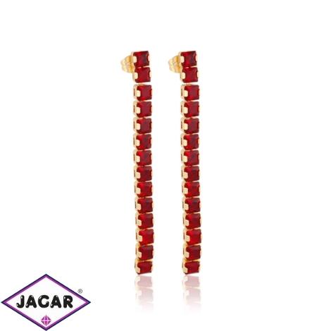 Kolczyki eleganckie czerwone - Xuping - EAP11244