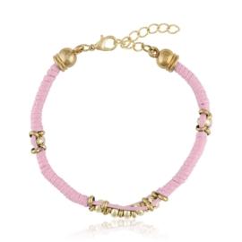 Bransoletka - różowy sznurek - BRA1380