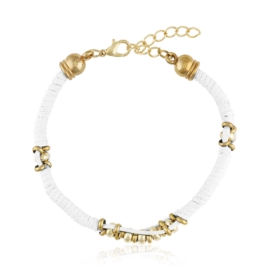 Bransoletka - biały sznurek - BRA1381