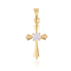 Medalik - krzyżyk z cyrkonią - Xuping - PRZ2178